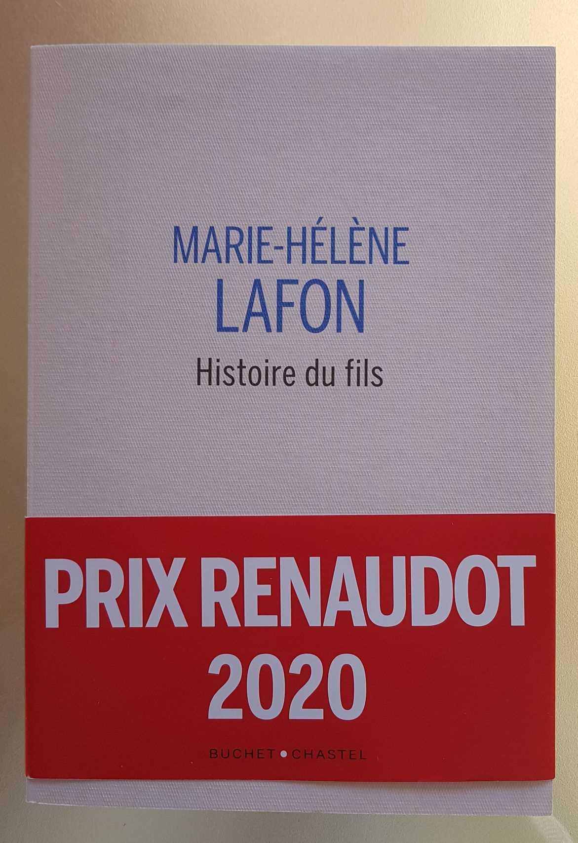 Histoire du fils Marie Helène Lafon Librairie La Librai'bulles
