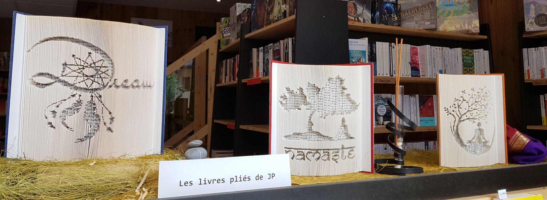 Les livres pliés de JiPe Librairie La Librai'bulles